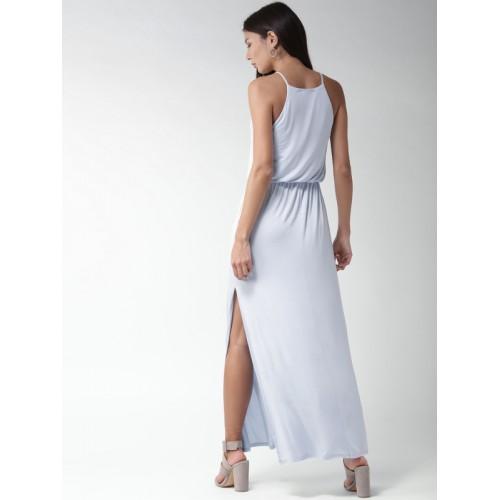 072ee09e4d Buy FOREVER 21 Women Blue Solid Maxi Dress online