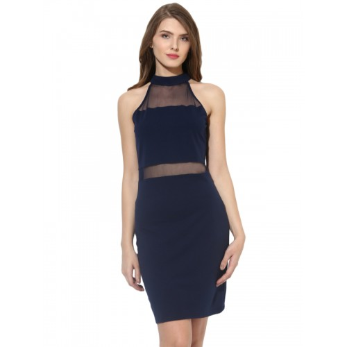 Besiva Women Bodycon Blue Dress