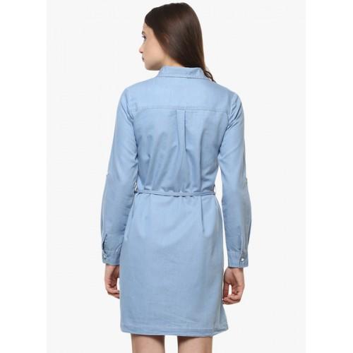 Stylestone Blue Solid Shift Dress