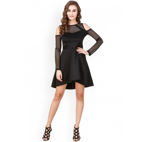Texco Women Black Solid Fit & Flare Dress