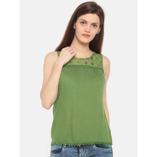 9e08e299df5de9 Deal Jeans Green Embellished Blouse; Deal Jeans Green Embellished Blouse ...