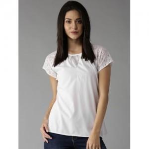 Moda Rapido Women White Solid Top