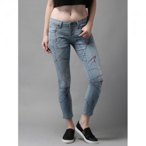 Moda Rapido Blue Skinny Fit Mid-Rise Clean Look Cropped Stretchable Jeans
